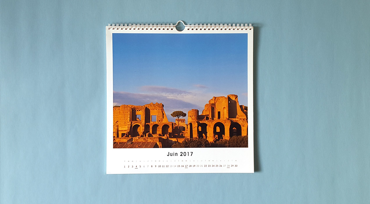 Calendrier luxe 30x30
